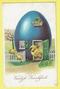 * Pasen - Paques - Easter (Fantaisie - Fantasy) * (import Nr 7346-2) Vrolijk Paasfeest, Poussin, Chicken, Egg, Oeuf, Ei - Pasqua