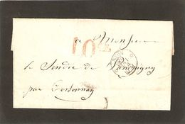 Taxes 10 Cs De Nyon - ...-1845 Vorphilatelie
