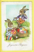 * Pasen - Paques - Easter (Fantaisie - Fantasy) * (Import Nr 7689-1) Joyeuses Paques, Telephone, Lapin, Bunny, Rabbit - Pasqua