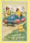 * Pasen - Paques - Easter (Fantaisie - Fantasy) * (7389) Poussin, Chicken, Kuiken, Egg, Oeuf, Police, Gendarme, Amende - Pasqua