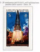 PIA - AUSTRIA - 1982 : 2° Conferenza Dell' ONU Sull'utilizzazione Pacifica Dello Spazio -   (Yv  1544) - Space