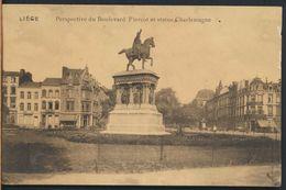 °°° 6242 - BELGIO - LIEGI - BOULEVARD PIERCOT ET STATUE CHARLEMAGNE °°° - Liège