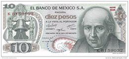 MEXICO 10 PESOS 1975 P-63h UNC SERIE 1DK [ MX063h ] - Mexico