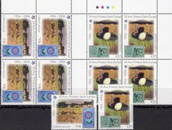 Strauß 2005 Uruguay 2880/1+4-Blocks ** 35€ Dorf Stamps On Stamp Of Espana EUROPA Natur Sheets Ss 50 Years CEPT 2006 - Straussen- Und Laufvögel