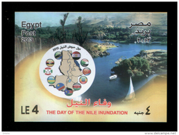 EGYPT / 2013 / THE NILE RIVER / THE NILE INUNDATION / MAP / FLAG / MNH / VF - Unused Stamps