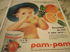 ANCIENNE PUBLICITE JUS DE FRUIT EN BOITE PAM PAM 1960 - Manifesti