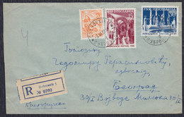 Yugoslavia Croatia 1955 Dubrovnik Summer Festival, Recommended Letter Sent From Dubrovnik To Beograd - 1945-1992 Socialist Federal Republic Of Yugoslavia