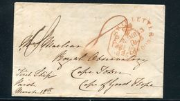 GREAT BRITAIN LONDON SHIP LETTER CAPE TOWN BEDFORD 1845 - Postmark Collection