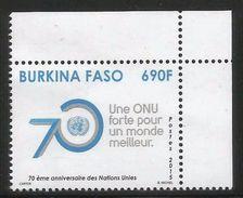 2015 Burkina Faso United Nations Complete Set Of 1 MNH - Burkina Faso (1984-...)