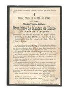 A 1a.Douairiere De MENTEN De HORNE  - + Kasteel Van HORNE (ST-TRUIDEN) 1899  (78 J.) - Images Religieuses