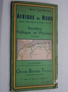 """AFRIQUE Du NORD Au 1/2.500.000e ( Série """" Les Nations """" ) Girard -  Barrère - Thomas : Anno 1956 ( Voir Photo ) ! - Cartes Géographiques"""