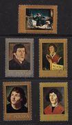 POLOGNE 1973 TABLEAUX COPERNIC  YVERT N°2076/80  OBLITERE - Space