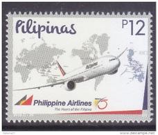 Filippine Philippines Philippinen Filipinas 2016 Philippine Airlines (PAL) 75th Anniversary 12p Singles MNH**(see Photo) - Philippines