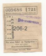 WIEN: Wiener Stadtwerke Verkehrsbetriebe - Tagesfahrschein S 3.- - Europa