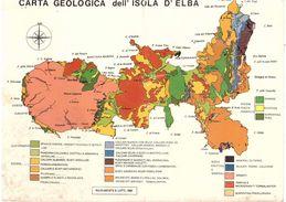 £50 TIEPOLO SU CART. GRANDE CARTA GEOLOGICA DELL'ISOLA D'ELBA - Carte Geografiche
