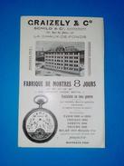 Publicite Horlogerie Suisse - Advertising