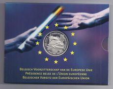 BELGIE - BELGIQUE 500 Frank / 500 Franc Belgisch Voorzitterschap Europese Unie  PROOF-QUALITY In Blister 2001 - 08. 500 & 5000 Francos