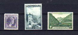 1934-35    Grande-duchesse Charlotte, Porte Des Trois Tours, Vianden, 249 – 250 – 275**, Cote 23,50 €, - Ungebraucht