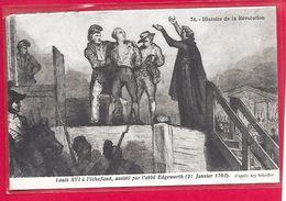 Histoire De La Révolution-Louis XVI à L'échafaud- Cpa - Histoire