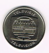 ) PENNING  50 JAAR TELEVISIE TELEVISION BELGIE - BELGIQUE  1953 - 2003 - Souvenirmunten (elongated Coins)