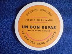 """SOUS-BOCK """"UN BON REPAS Met De Bonne Humeur"""" - Sous-bocks"""