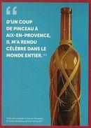 Carte Postale CP Vierge Peinture Paul CEZANNE  ATELIER D'AIX EN PROVENCE Tableau Bouteille De Liqueur - Malerei & Gemälde