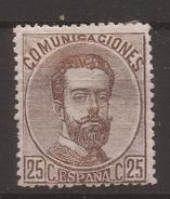 1872 Reinado Amadeo I Edifil 124* VC 74,00€ - 1872-73 Reino: Amadeo I
