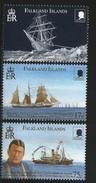 2000 Falkland Islands Shackleton Ships Complete Set Of 3 MNH - Falklandinseln