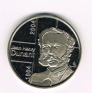 ) PENNING  JEAN HENRY DUNANT - BELGISCHE RODE  KRUIS  1864 - 2004 - Pièces écrasées (Elongated Coins)