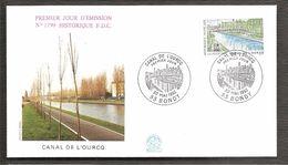 FDC 1992 N°1799 CANAL DE L OURCQ - 1990-1999