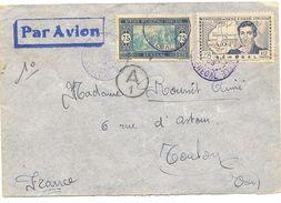 Senégal Lettre De Decembre 1939 Pour Le Var , Jolibicolore Avec Cachet De Censure - Senegal (1887-1944)