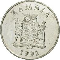 Zambie, 50 Ngwee, 1992, British Royal Mint, TTB+, Nickel Plated Steel, KM:30 - Zambie