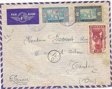 Senégal Lettre De Dakar ,pour Le Var ,  Avec Cachet De Censure, Sur Enveloppe Air France - Senegal (1887-1944)