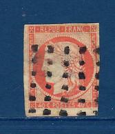 """FR YT 5 """" Cérès 40c. Orange """" 1850 Roulette Points Carrés - 1849-1850 Ceres"""