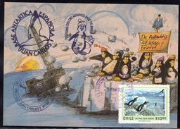 "ANTARCTIC,GERMANY, UNI Kiel,""JUAN CARLOS"" + TTE MARSH,,nice Card + Motive-stamp,  Look Scan !! 2.6-36 - Spedizioni Antartiche"