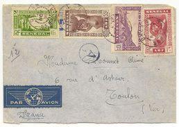 Senégal Lettre De Dakar ,pour Le Var ,  Avec Cachet De Censure, - Senegal (1887-1944)