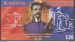 DOMINICAN REPUBLIC, 2016, MNH, RAMON MELLA CASTILLO, MILITARY, NATIONAL HEROES, S/SHEET - Famous People