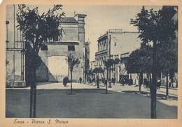 "10958-ENNA-PIAZZA S.MARCO-DALLA ""POSTA MILITARE N.3500"" AEREOPORTO 509-1942-FG - Enna"