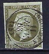 "FR YT 11 "" Napoléon III 1c. Bronze "" CAD Province ISSOUDIN - 1853-1860 Napoleon III"