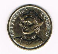 ) PENNING  CRISTOFORO COLOMBO  - TRANS MARE CURRUNT - Pièces écrasées (Elongated Coins)