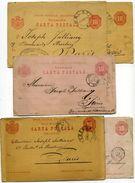 Roumanie  5 Entiers Postaux - Postal Stationery