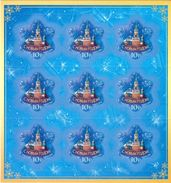 Russia 2009 Sheetlet Happy New Year Celebrations Moscow Kremlin Architecture Clocks Self-adhesive Stamps MNH SC 7190 - Clocks