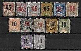 GABON -  YVERT N°66/78 *  - COTE = 22 EUROS - - Gabon (1886-1936)