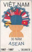 Vietnam Phonecard ASEAN Staaten China Thailand Singapore - Heraldik Flaggen - Vietnam