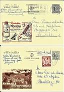 2 X PUBLIBEL  1573 + 1594  MONIDUR + AYWAILLE - Stamped Stationery