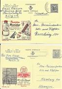 2 X PUBLIBEL  1573 + 1597  MONIDUR + PASTOC - Stamped Stationery