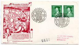 Carta Con Matasellos De Zaragoza 1952 - 1951-60 Briefe U. Dokumente