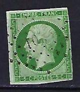 "FR YT 12 "" Napoléon III  5c.vert "" 1854 Losange PC - 1853-1860 Napoleon III"