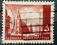 LANDSCAPES-3 K-OSIJEK-CATHEDRAL-ERROR-BIG DOT-3-RARE-NDH-CROATIA-1941 - Croatia