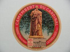 Etiquette Camembert - Du Cardinal Richelieu - Fromagerie Marius Fouquet à Luze 37 - Indre&Loire  A Voir ! - Quesos